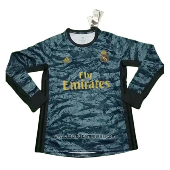 Camiseta Real Madrid Portero Segunda Manga Larga 2019 2020
