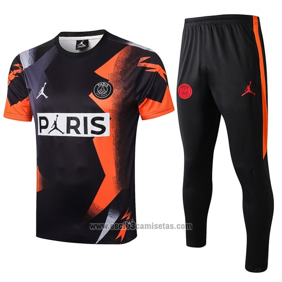 Chandal del Paris Saint-Germain Jordan Manga Corta 2019 2020 Negro